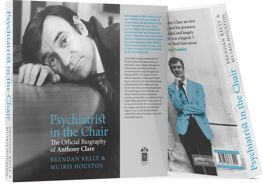 Psychiatrist In The Chair - front cover and side view of book